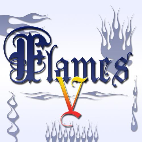Flames Font -Dingbat- 5 by jbensch