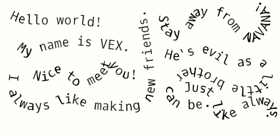 Message from VEX by VexianEmpire