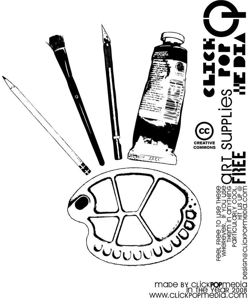 Art Supplies Free by clickpopmedia