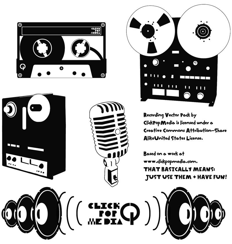 Recording Vector Pack 79880178 on retro wall art