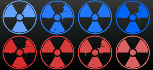 Nuclear Warning Symbol by clickpopmedia