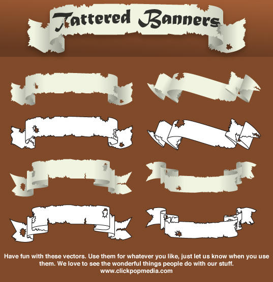 ClickPopMedia:Tattered Banners by clickpopmedia