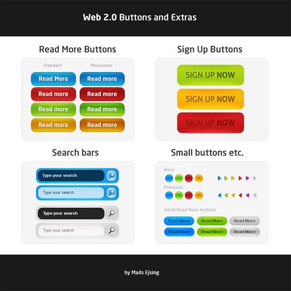 Web 2.0 Graphics - Free .PSD