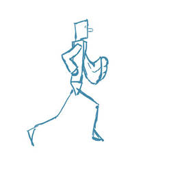 010 - Walkcycle - Running man