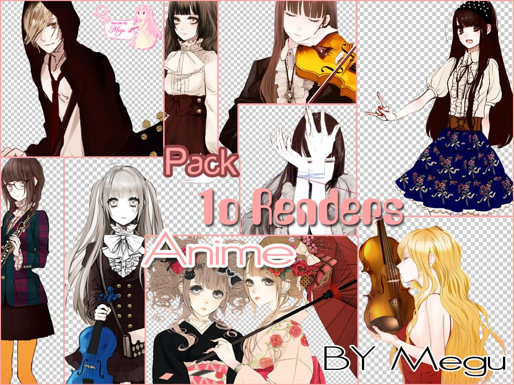 10 renders anime by Megu-Luka