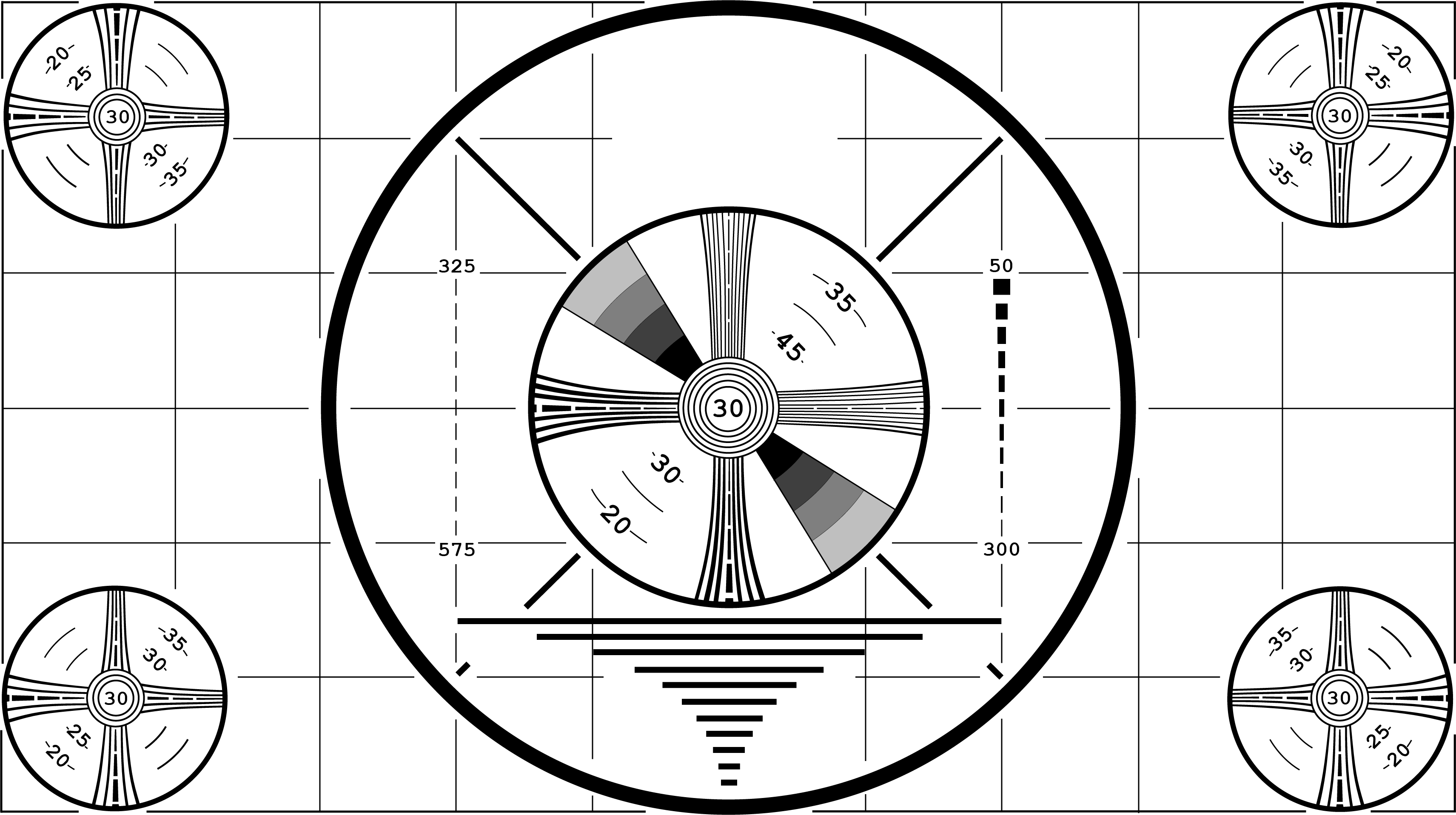HD Indian Head Test Pattern (w/o the head itself)