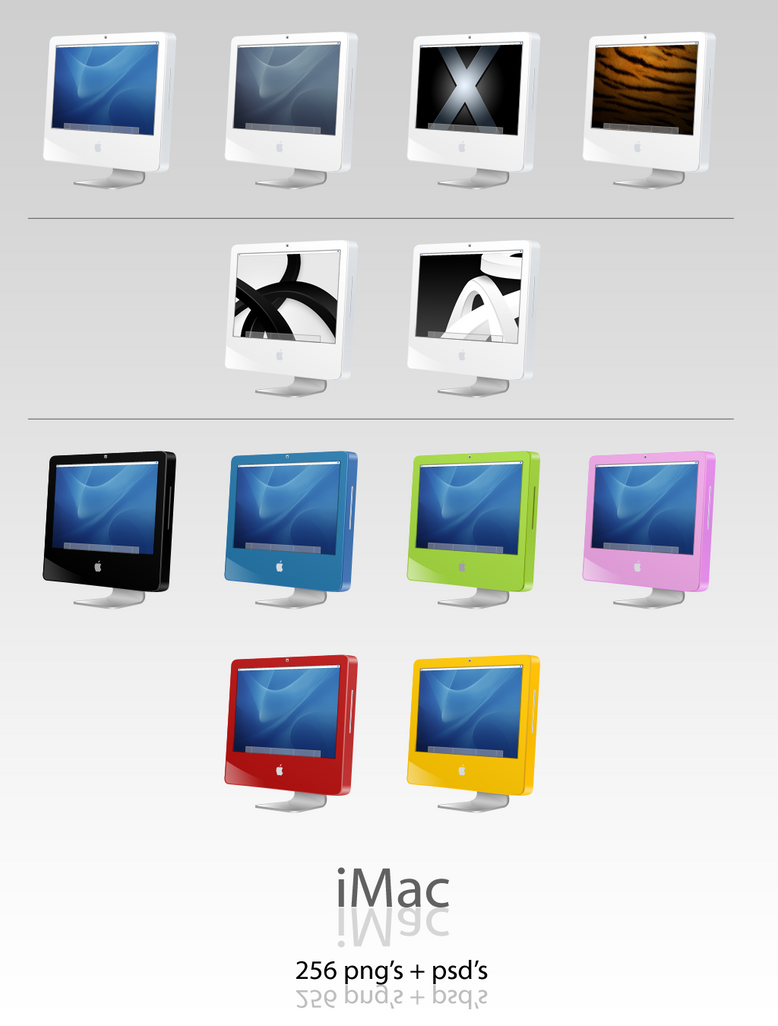 iMac Dock Icons by User-DA