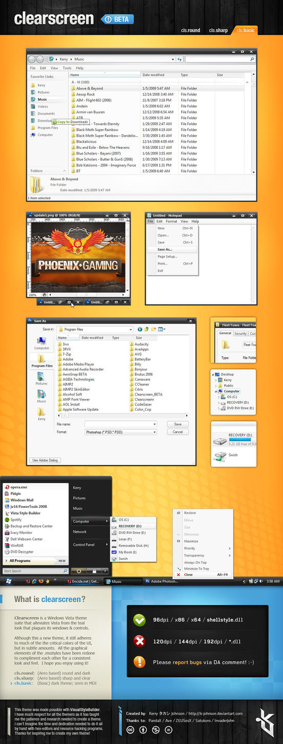 Clearscreen Basic for Vista by K-Johnson
