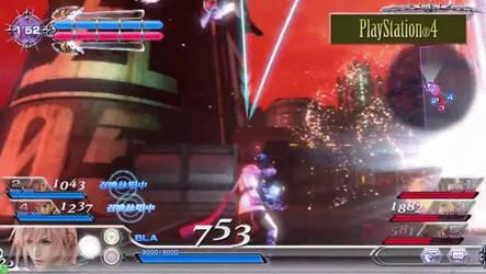 Lightning's Gameplay in Dissidia