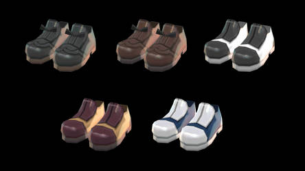 [MMD] Bow and Saddle Shoes [+DL] by Juniee-P