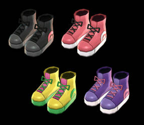 [MMD] High Tops Shoes [+DL]
