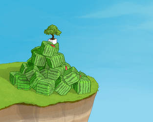 melon mountain by headvoid