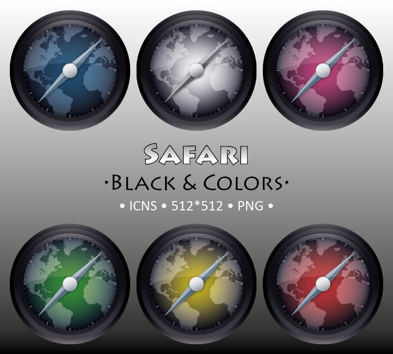 Safari Black and Colors by Fixounet