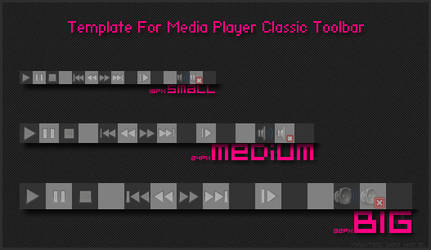 Toolbar Template for MPC-HC
