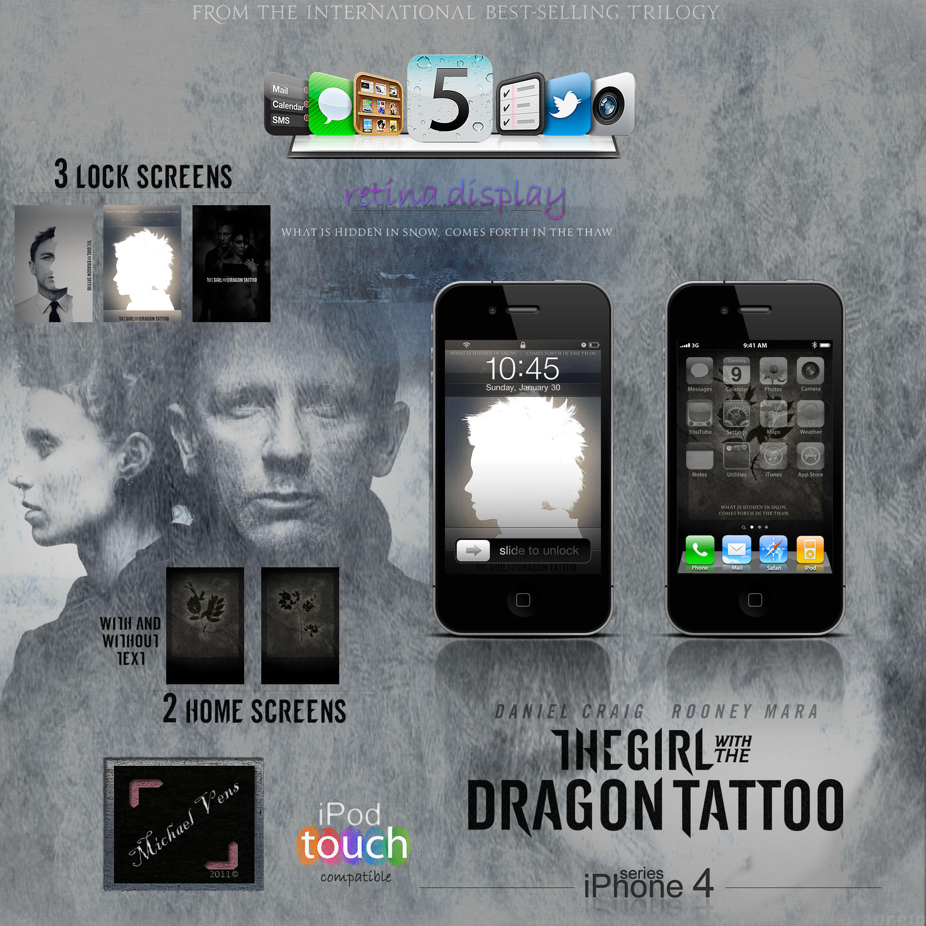 Girl With Dragon Tattoo Iphone Theme By Michael Vens On Deviantart
