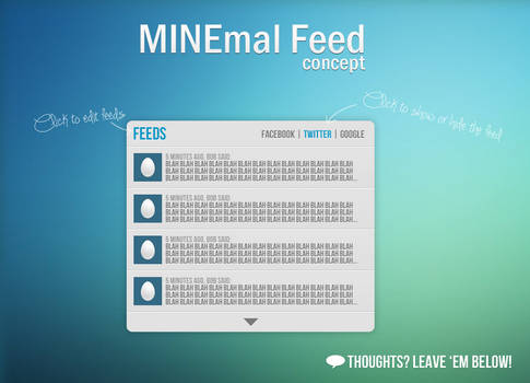 MINEmal Feed - Concept