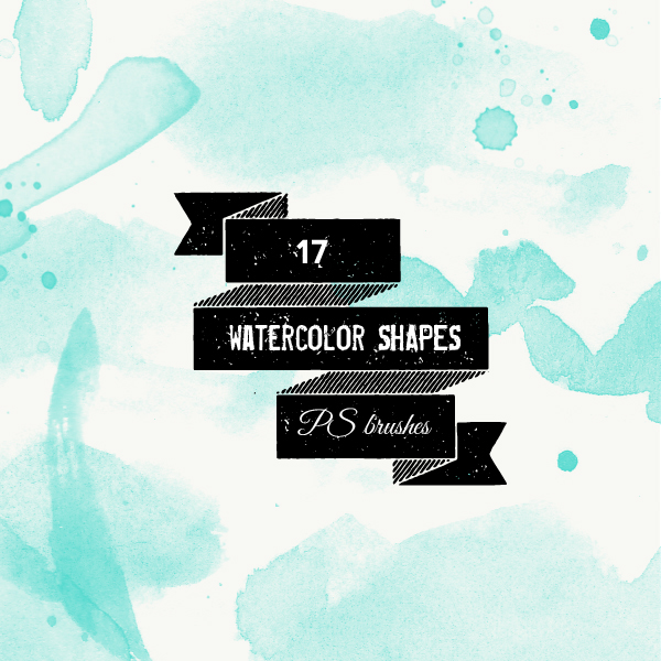 PS brushes: watercolor shapes and splatters by excentric