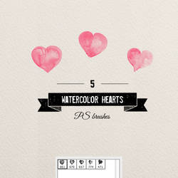 photoshop brushes watercolor hearts free