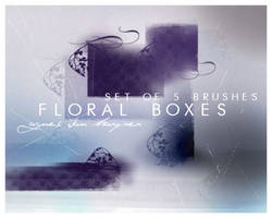 Floral Boxes by agnesvanharper