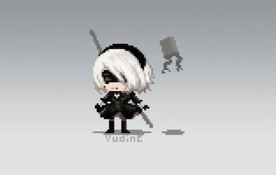 Pixel 2B (NieR Automata)