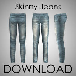MMD - Male Skinny Jeans Download by p-o-l-l-o