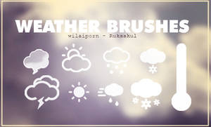[BRUSHES] FIRSTWORK - WEATHER
