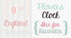 Flower Clock {Skin for Rainmeter}
