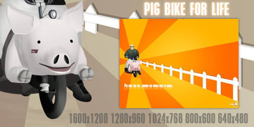 Pig bike for life by Chozo-MJ