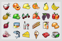 Food icon set in .png by Aenyeth