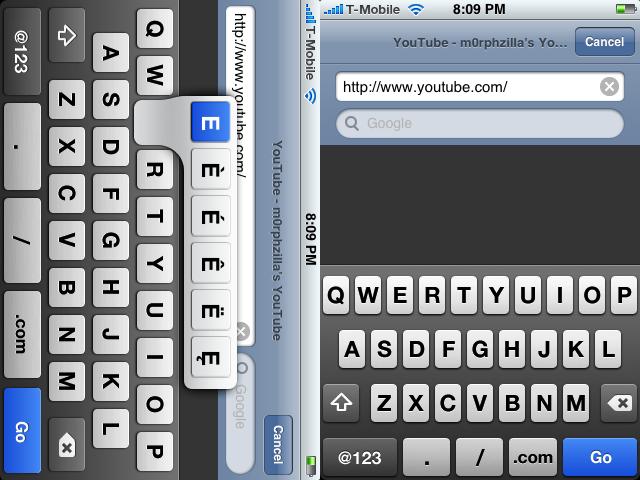 Eclipse iPhone Keyboard by m0rphzilla
