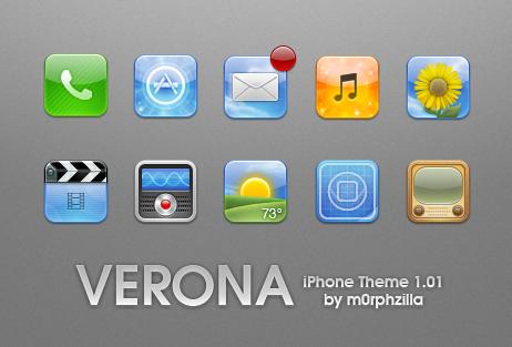 Verona iPhone Theme v1.01 by m0rphzilla