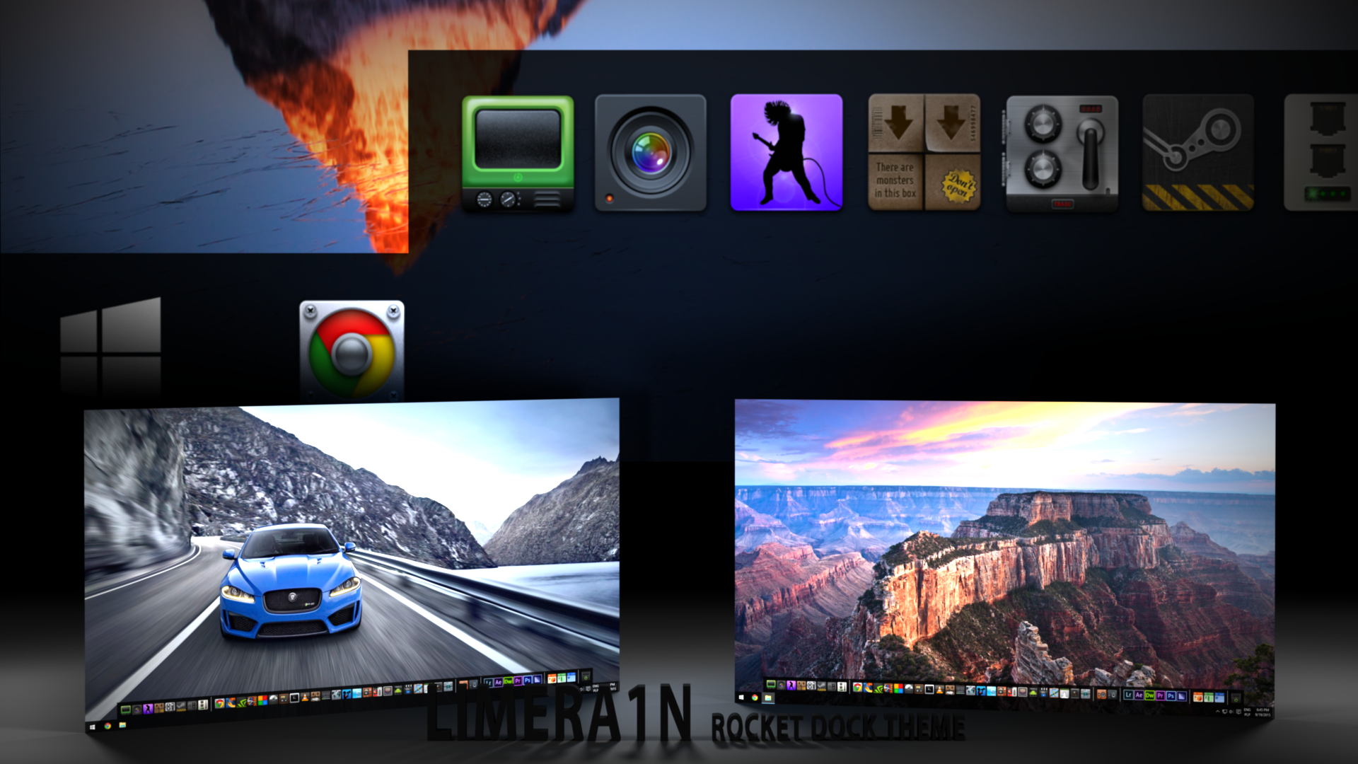 Win10 Theme for RocketDock by limera1n on DeviantArt