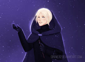 Draco amid the falling snow by sirene312