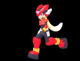 Blender 3D: Megaman Zero Run Animation by 4lyx9