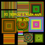 M3D -93 Tropical and/or Warm Maps