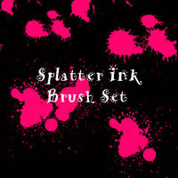 Splatter Ink Brush Set by eMelody