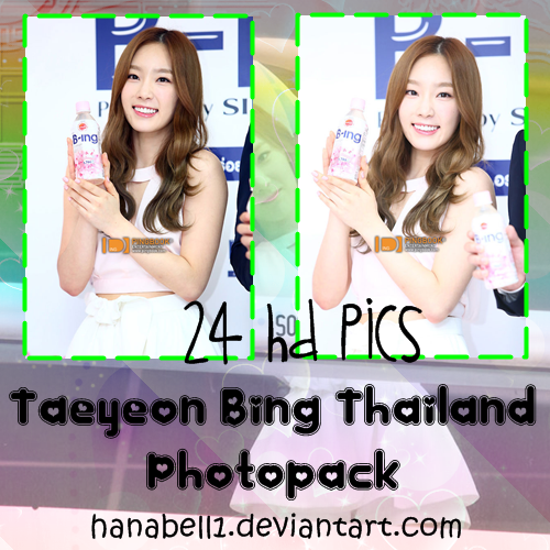 Photopack#4 Taeyeon Bing Thailand by HanaBell1