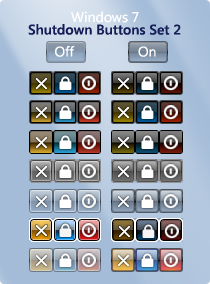 Shutdown Buttons Set 2 by ronz