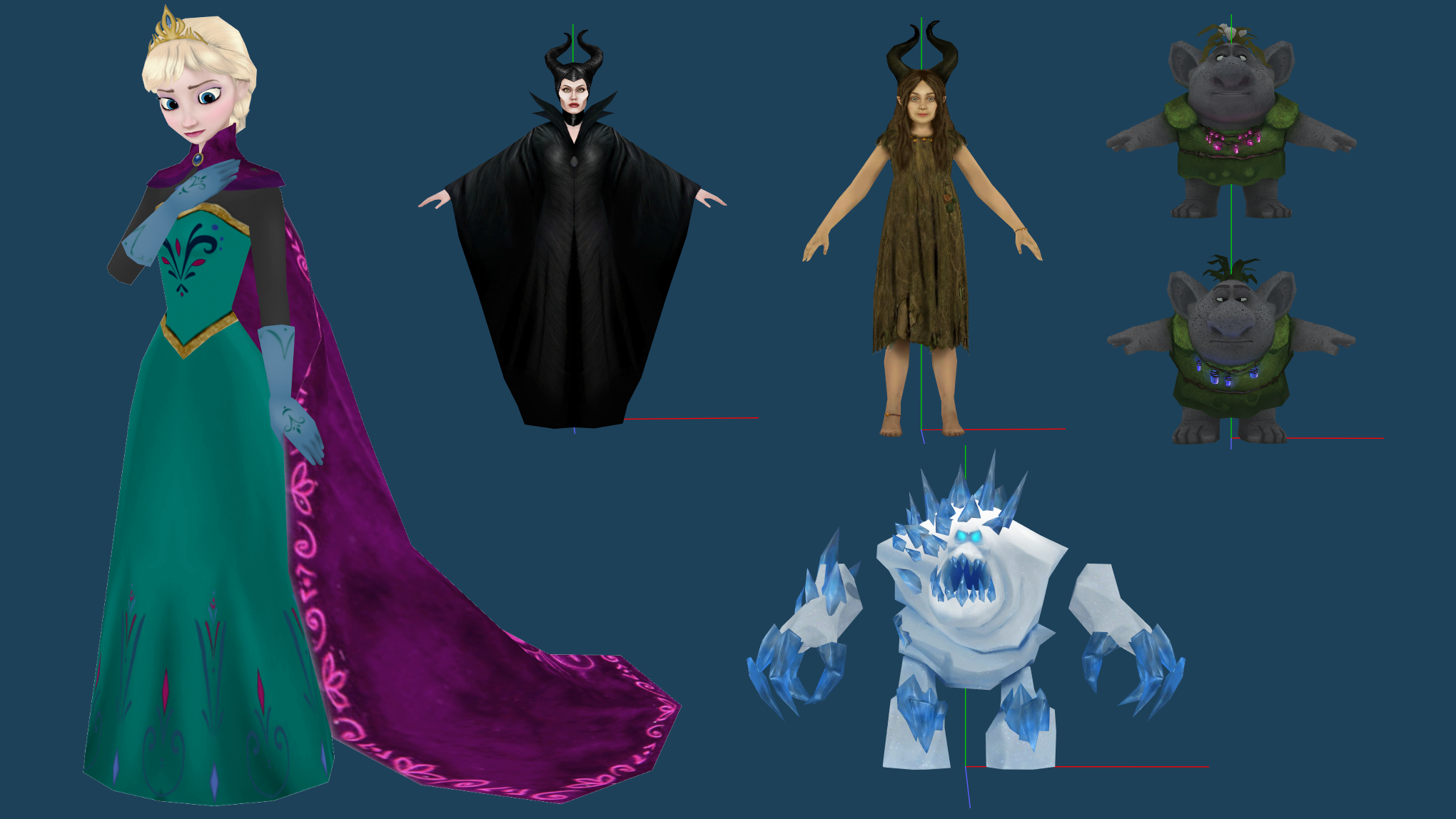 MMD More WIPs And Beta Coronation Elsa Release By 0 0