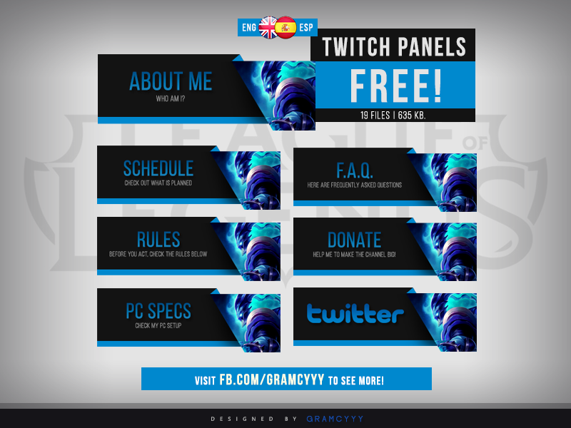 Twitch Panels By Whammodesigns Deviantart – Dibujos Para Colorear