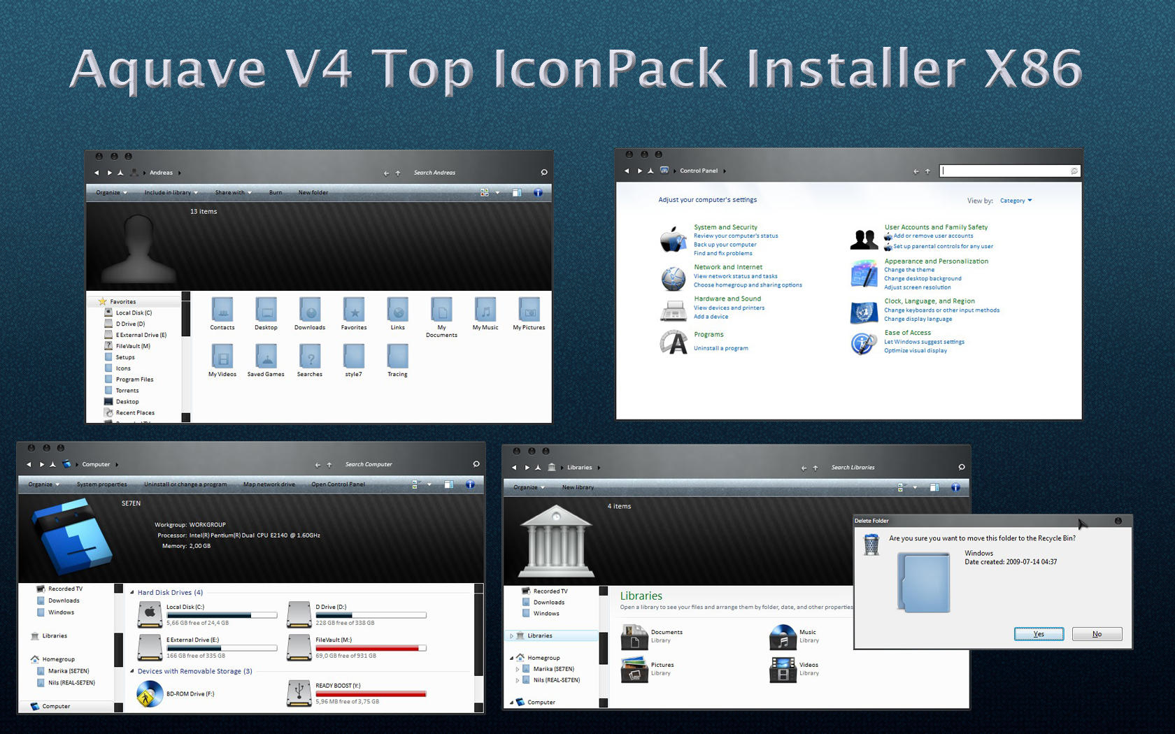 AquaveV4 iconPack Top Inst X86 by Mr-Ragnarok