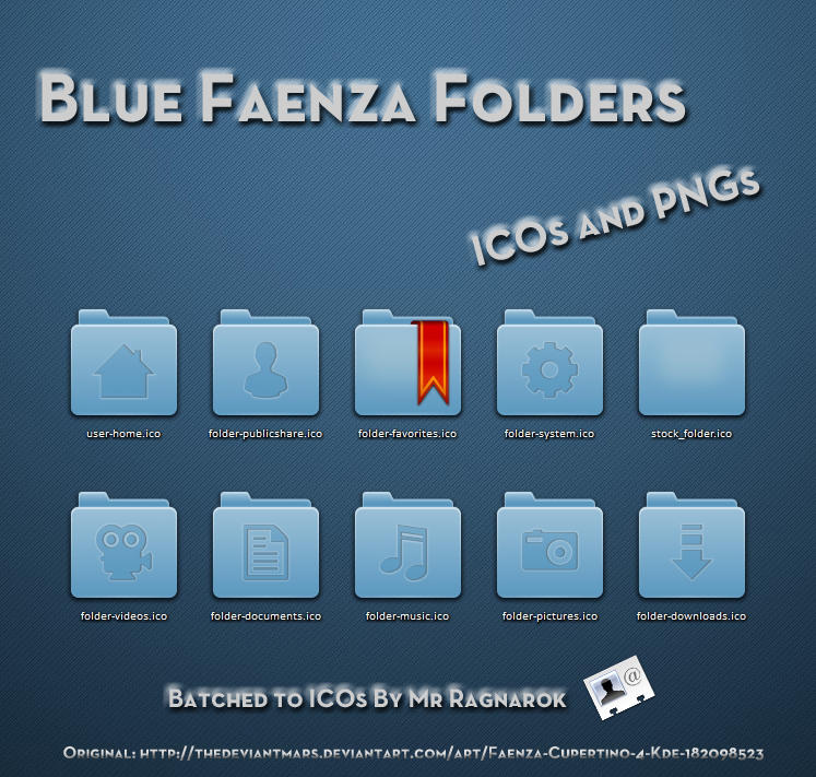 Blue Faenza Folders by Mr-Ragnarok