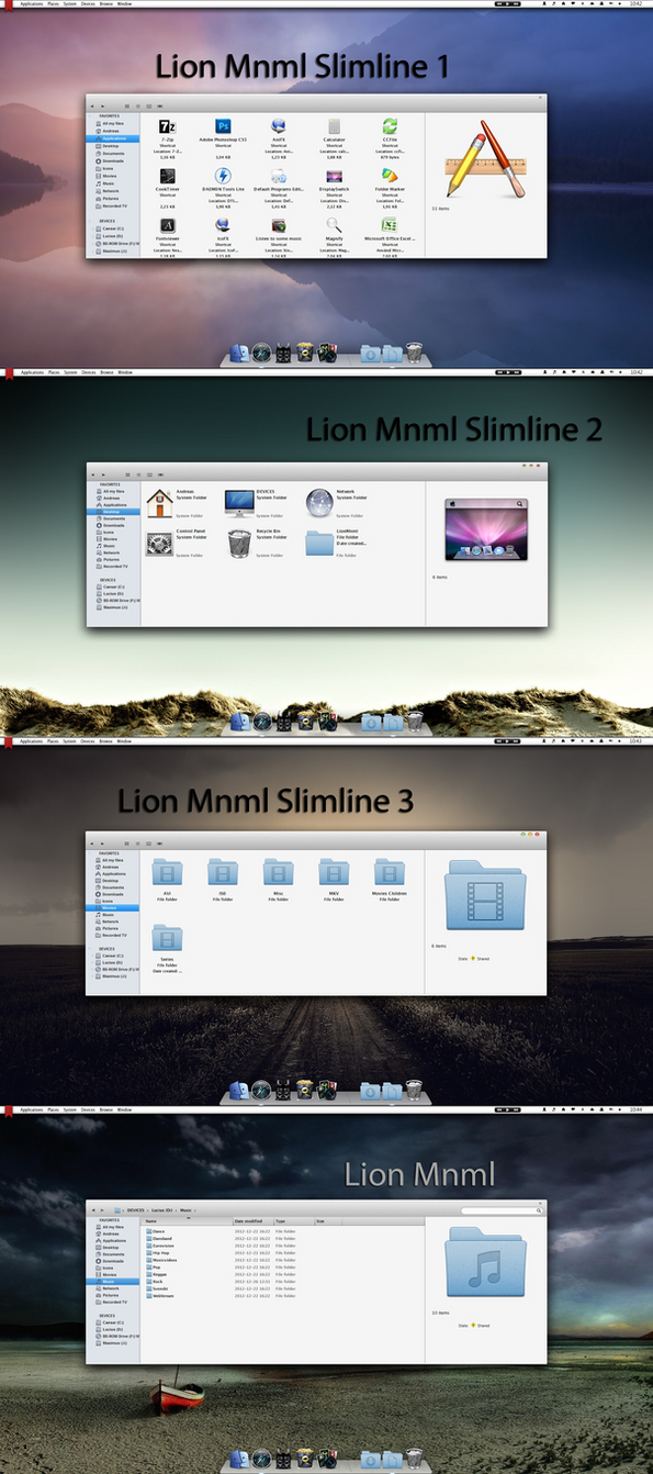 Lion Mnml Visual Style for Windows Seven by Mr-Ragnarok