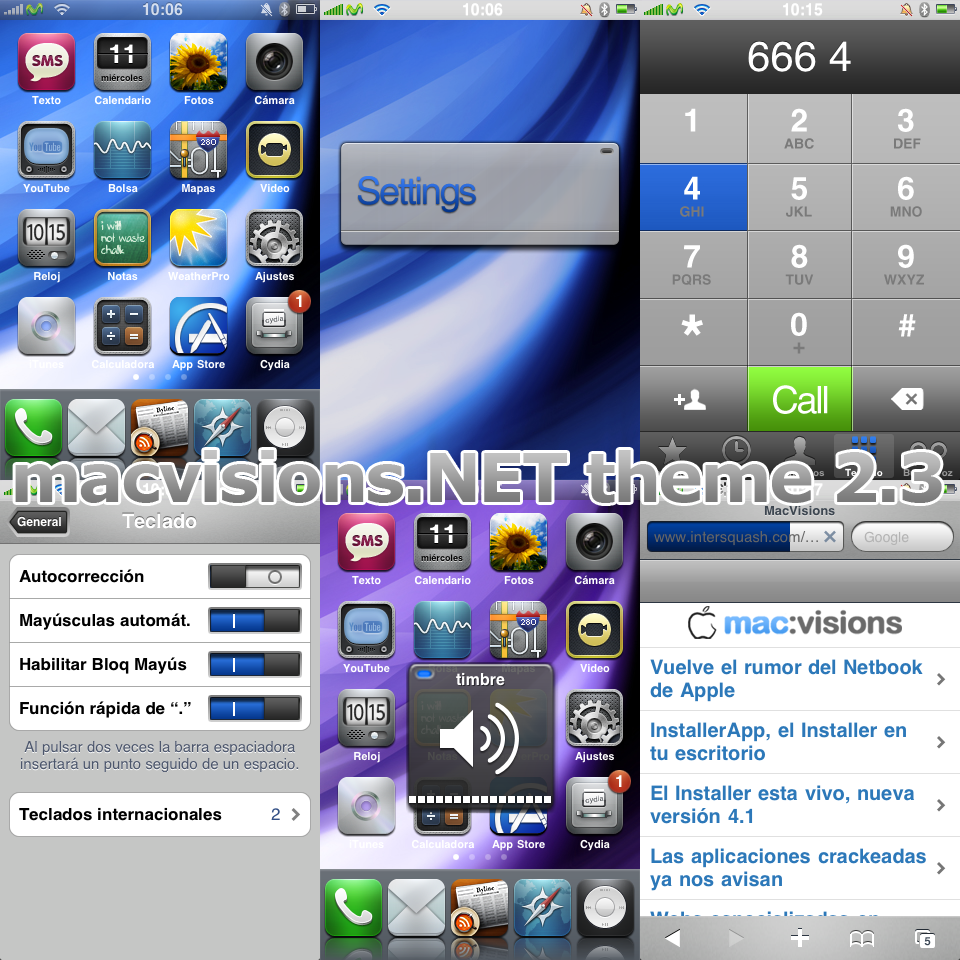 MacVisions iPhone Theme 2.3