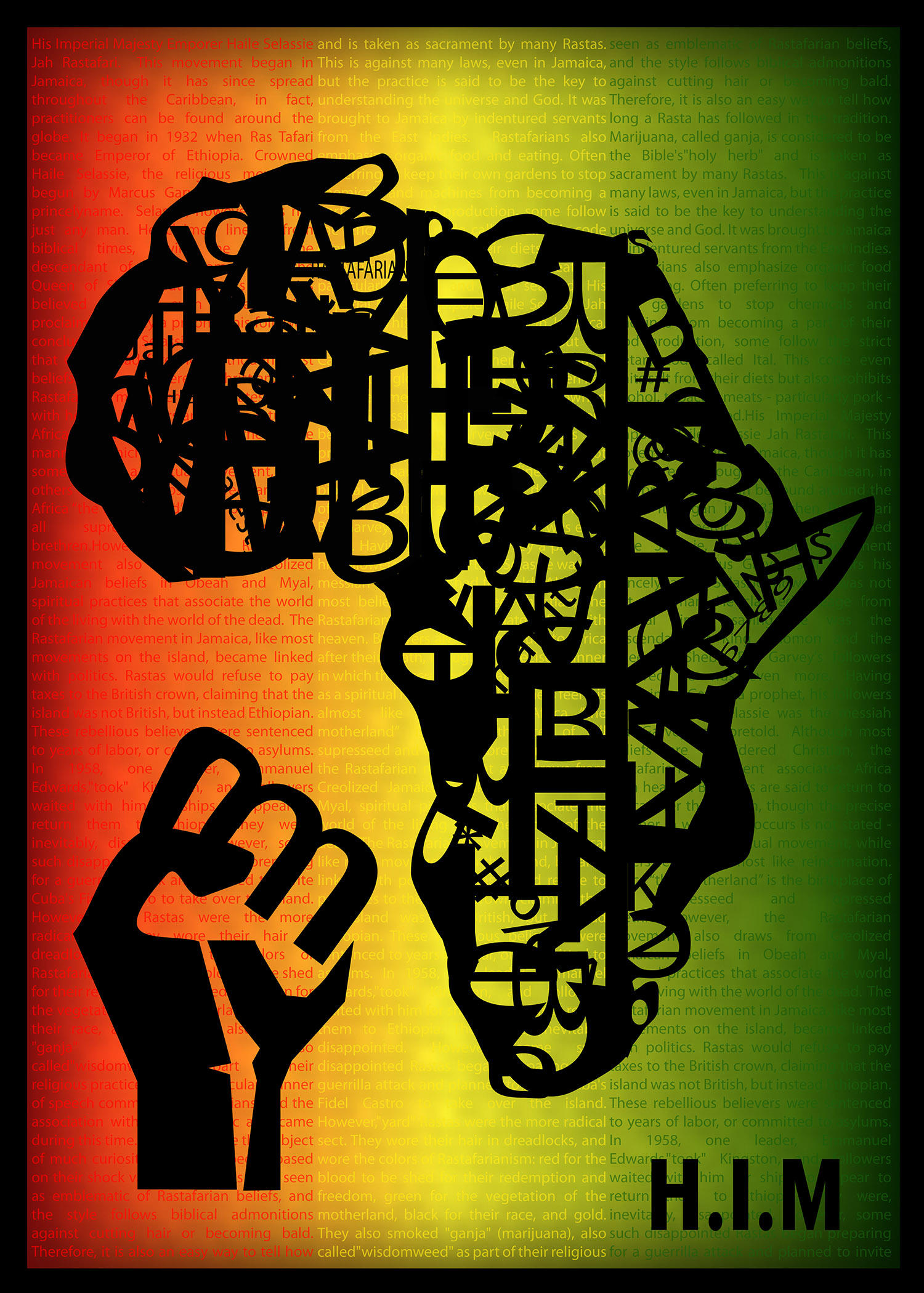 Africa Rasta Typography By Emperialdesigns On Deviantart