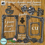 CU free vintage charms and frames