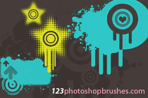 Grunge Brushes by 123photoshopbrushes