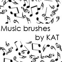 Music Brushes by Kat by katie-louise1