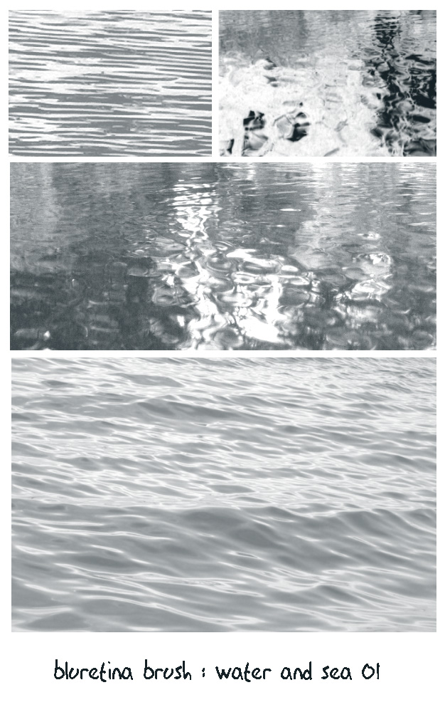 bluretina brush:water n sea 01 by bluretina-stock