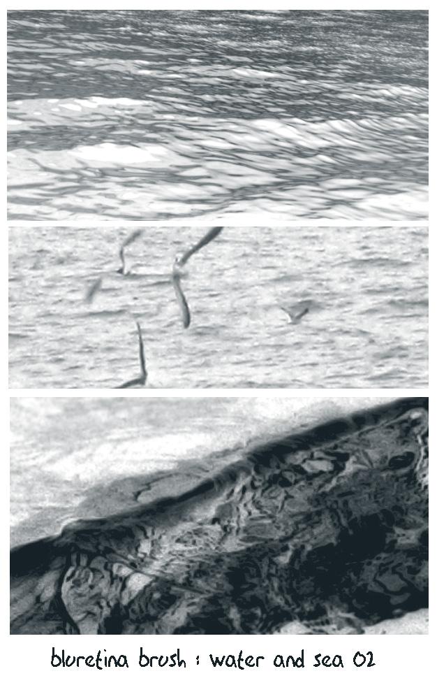 bluretina brush:water n sea 02 by bluretina-stock
